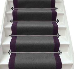 Axminster Carpets Devonia Plain Discovery Grey & Hyacinth Stair Runner (per M)