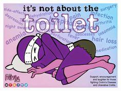 Support, encouragement & laughter for those fighting Crohn's & Ulcerative Colitis. Ulcerative Colitis, Autoimmune Disease, Crohn's Disease, Chronic Pain, Fibromyalgia, Chronic Illness, Crohns Awareness, Pseudotumor Cerebri, Irritable Bowel Syndrome