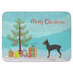 The Holiday Aisle Toy Fox Terrier Merry Christmas Tree Memory Foam Bath Rug