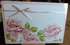 Karte, Stippled Blossoms, Stampin Up!, Stamp-a-ma-jig