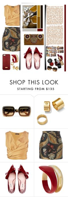 """""""dancing alone"""" by emcf3548 ❤ liked on Polyvore featuring Miu Miu, Tory Burch, The Row, Dsquared2, castro, MAKE UP FOR EVER, Tsumori Chisato and Brahmin"""