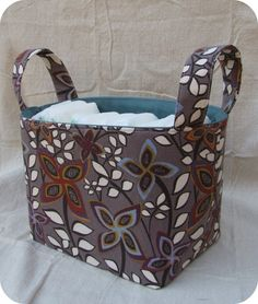 ~ sew your own organizing bins and great stuff!!! http://pinterest-server.blogspot.com