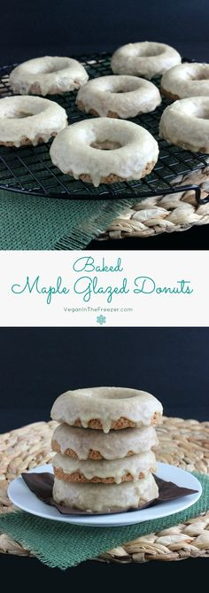 Maple Glazed Donuts are baked into a really good dense cakey donut. Dipped into a sweet maple icing and you will be in bakery nirvana.