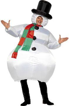 Disfraz de muñeco de nieve inflable para adulto Disponible en http://www.vegaoo.es/disfraz-de-muneco-de-nieve-inflable-para-adulto.html?type=product