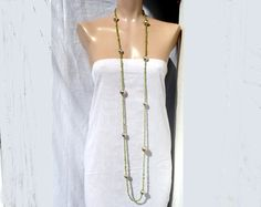 long necklace... by BIZARREjewelry on Etsy, $380.00