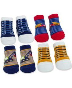 Baby Essentials Baby Boys' 4-Pack Socks #ad