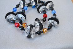 Lucite Discs & Faceted Beads Chunky Statement by HighClassHighway