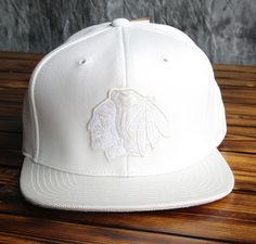Chicago Blackhawks Mitchell   Ness Winter White Snapback Hat 267b493379c
