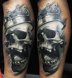 Skull Tattoo by U Gene   Tattoo No. 12458
