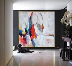Handmade Extra Large Contemporary Painting, Huge Abstract Canvas Art, Original Artwork - By Leo, Celine Ziang Art Abstract Canvas Art, Canvas Paintings, Painting Abstract, Contemporary Paintings, Abstract Expressionism, Painting Inspiration, Art Decor, Modern Art, Art Projects