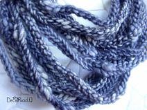 Scaldacollo multifili di lana grigio mélange