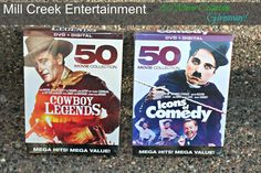 Mill Creek Entertainment Giveaway:50 cowboy legends and 50 icons of comedy DVDs giveaway ends 8/3/2016