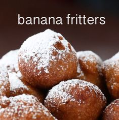 Homemade Apple Fritters Recipe - New ideas Banana Dessert Recipes, Quick Dessert Recipes, Easy Desserts, Delicious Desserts, Yummy Food, Leftover Banana Recipes, Overripe Banana Recipes, Fried Banana Recipes, Ripe Banana Recipes Healthy