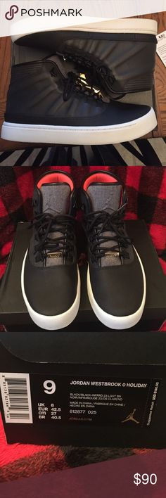 Jordan's Westbrook 0 Holiday Nice worn twice, no scuffs no stains, no dirt marks on the white. Dirt marks on the bottom but flawless look. In original box with the paper as well. Authentic! Jordan Shoes Sneakers