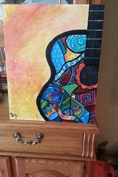 Fun guitar painting I did
