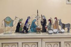 3D Stained Glass Nativity by TUGcreations on Etsy, $325.00