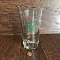VTG LIBBEY RX MEDICAL MEASURING GLASS CUP POUR SPOUT VEGETABLES CARROT 12 oz