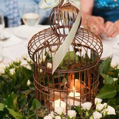 A Romantic-Themed Indoor Wedding in Ipswich, QLD Bird Cage Table Decor – The Knot
