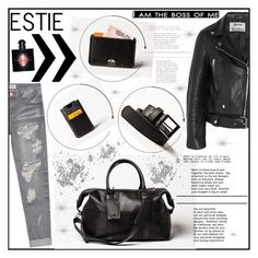 """""""Estie bags 1"""" by gaby-mil ❤ liked on Polyvore featuring Acne Studios, One Teaspoon, Yves Saint Laurent, Leather and estiebags"""