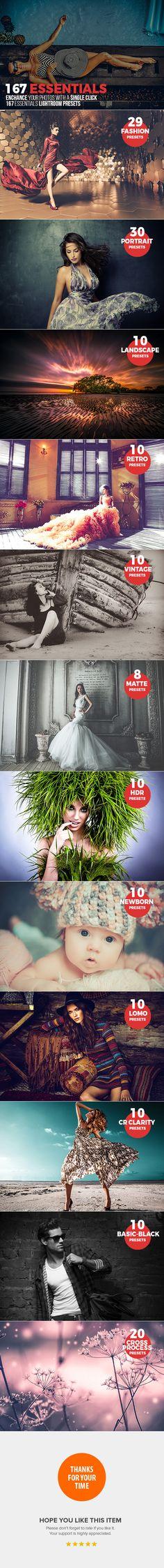 167 Essential Lightroom Presets - Lightroom Presets Add-ons
