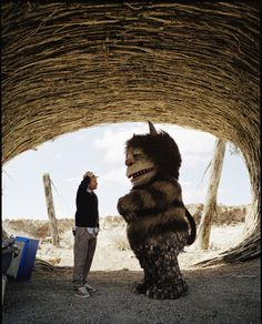 Spike Jonze on the set of Where the Wild Things Are (2009)