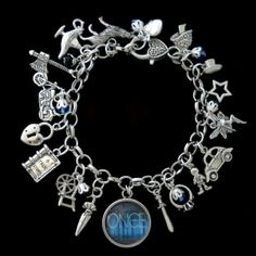 Once Upon A Time Themed Charm Bracelet by RedCrystalDesigns, $17.95