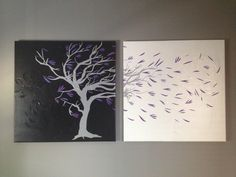 DIY wall art with once-ugly canvases and a decal