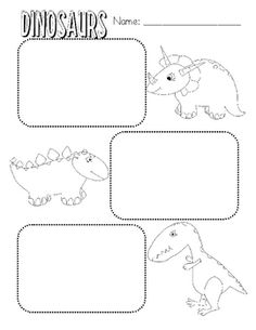 Students can write or illustrate facts about dinosaurs after reading a nonfiction text....