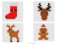 Beaded Christmas Decorations, Christmas Perler Beads, Cross Stitch Christmas Ornaments, Christmas Bows, Mini Cross Stitch, Cross Stitch Alphabet, Cross Stitch Embroidery, Embroidery Patterns, Pixel Art Noel