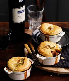 Beef and Guinness pot pies - Gourmet Traveller