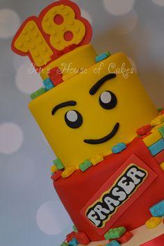 Lego Head & Lego Reveal Birthday Cake