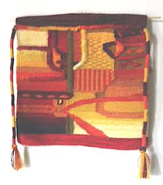 A piece woven in Peru on a workshop with Maximo Laura.
