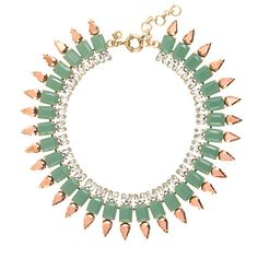J.Crew - Mint spike necklace