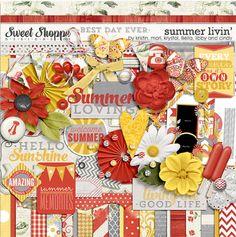Quality DigiScrap Freebies: Summer Livin' full kit freebie from Sweet Shoppe Designs