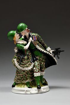 "Penny Byrne; Mixed Media Sculpture ""The War on Terror Waltz (2009)"""