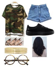 """""""Untitled #14"""" by jadeee-ysiss ❤ liked on Polyvore featuring Bill Blass, Liz Claiborne, ZeroUV and Puma"""