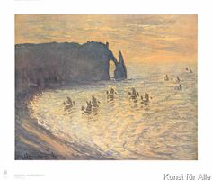 Claude Monet - Klippen von Etretat