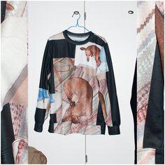 #mf #moodyfungus #sweatshirt #print #paom #printalloverme #dog #dogs #dachshund #black #collage #photography