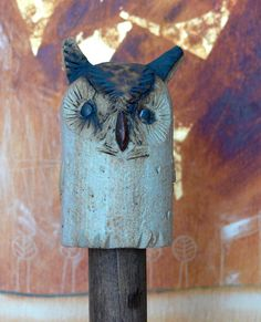 Gartenfiguren – Gartenskulptur klein UHU – a D – Wintergarten Ideen - Keramik Projekte Ceramics Projects, Garden Ornaments, Yard Art, Ceramic Pottery, Garden Inspiration, Sculptures, Owl, Bronze, Clay