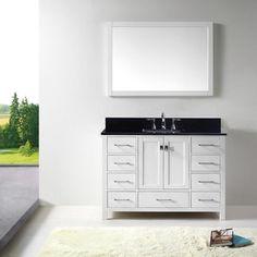 Photographic Gallery Shop for Virtu USA Caroline Avenue inch Single Bathroom Vanity Cabinet Set in u