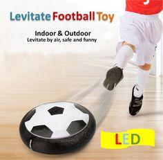 2016 New Indoor Outdoor Hover Football Toy Air Power Football Boys Girls Sport Toys Training Football Levitate Football