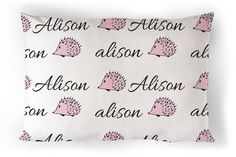 Personalized Pillow  Personalized Toddler Pillow  by tinytweets