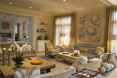 Living room - luxurious - love the color palette and furniture | Jeffrey Parker Interiors Inc
