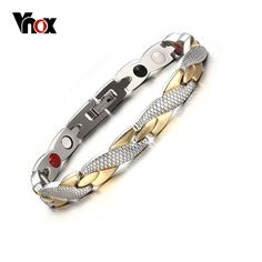 Vnox Twisted Healthy Magnetic Bracelet for Women Power Therapy Magnets Bracelets Bangles for Women Men