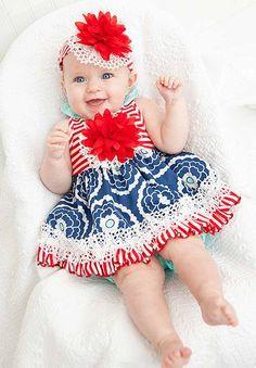 Peaches N Cream Red White Blue Summer Infant Bloomer Set. Color Me Happy  Boutique · Peaches n Cream Clothes b0b64c9b4