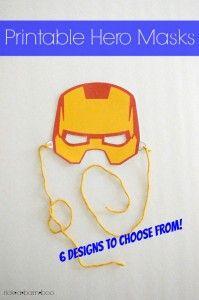 Printable Hero Masks | rickabamboo.com | #superhero #free #costume