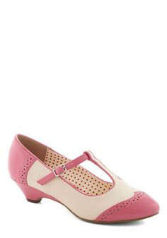 Care to Dance? Wedge in Petal, by Bait Footwear, ModCloth