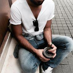#men #coffee #white #tattoo #starbucks