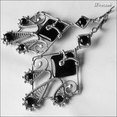 MIDNIGHT++EXCLUSIVE+true+silver+earrings+made+from+by+AnnaMroczek,+$75.00