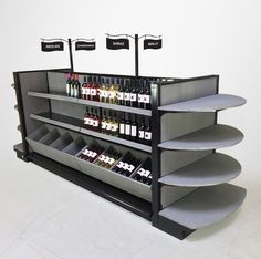 BORDEAUX - Liquor Store Display Shelving - Complete Solutions - Custom Colors!Need a complete liquor store design solution for your wine, beer or spirits department or area of your store? Check out this fully thought out retail design solution from...